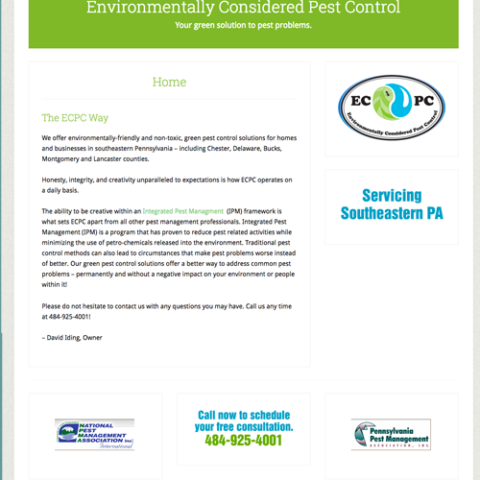 Environmentally Considered Pest Control